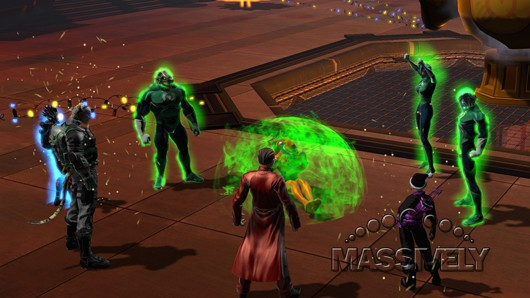 DC Universe Online - Lanterns spanking Larfleeze