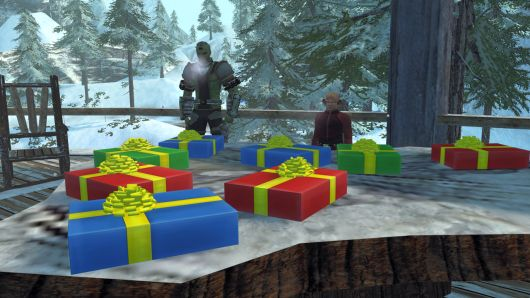 Even characters in Star Trek Online get presents, and some of the races in that setting don't have money any more.