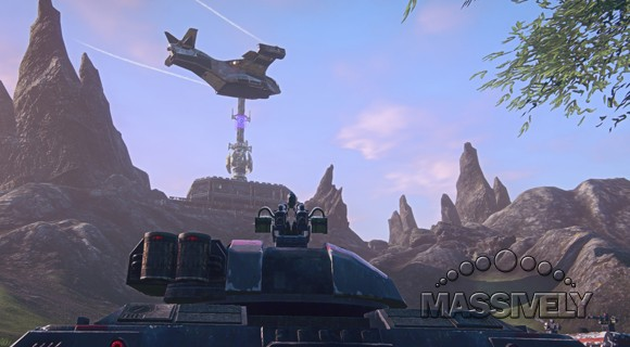 PlanetSide 2 - TR Prowler and Galaxy