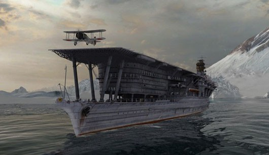 World of Warships aircraft carrier