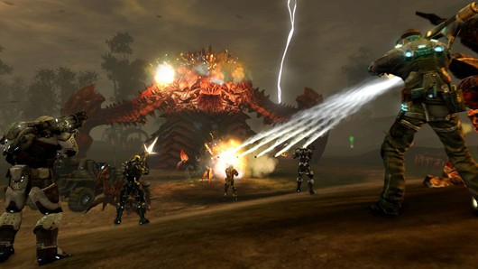 Defiance PvE boss battle
