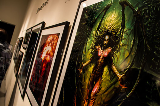 Kerrigan and other Blizzard artwork.