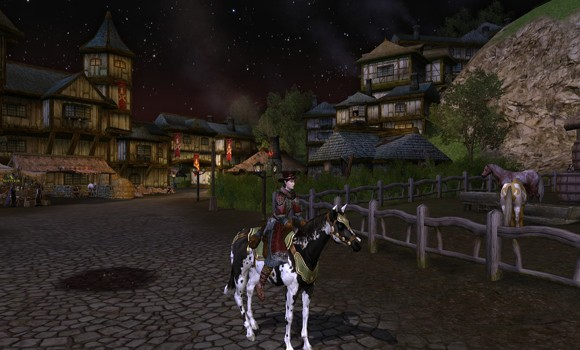 LOTRO Bree at night