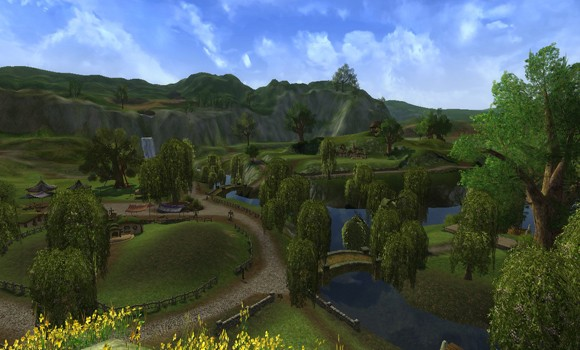 LOTRO Shire housing area