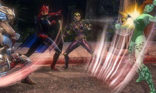 I'm clearly in a fantasy world in DC Universe Online, because it's a world where a woman other than Barbara Gordon can wear the bat-symbol.