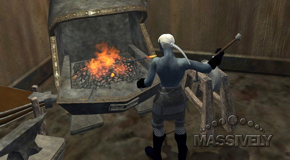 EverQuest II - Armorsmith at the forge