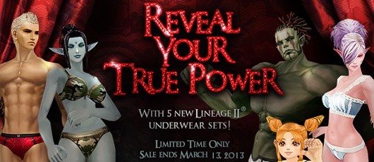 Lineage II augmented underwear promo