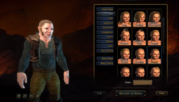A rundown of Neverwinter's character creator