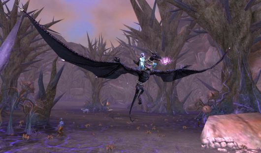 The new challenge for this drake here is swinging its wings without impaling itself.