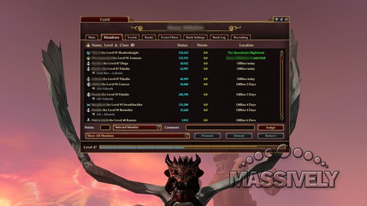 The Daily Grind Which MMO has the best guild management tools