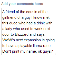 LLAMAGATE 2013, you heard it here first folks