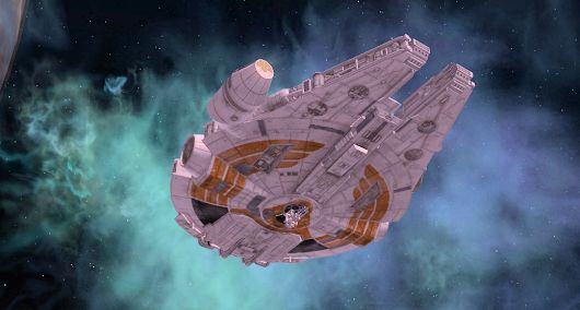 Oh, SWG. We miss you. (My old smuggler's YT-1300, The Paper Tiger)