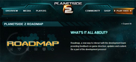 PlanetSide 2 roadmap