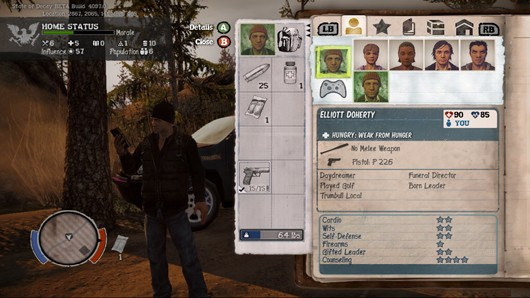 State of Decay skill screen