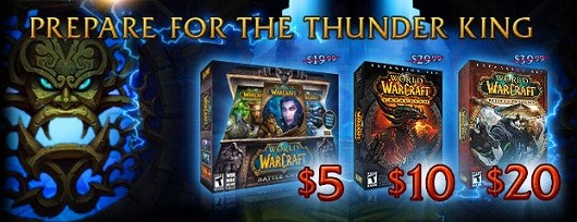 World of Warcraft game and expansions on 50% sale