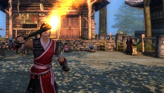 Age of Wushu - Street performer breathing fire