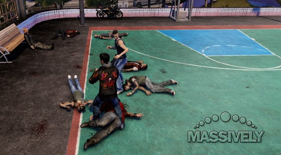 Sleeping Dogs - Basketball court brawl