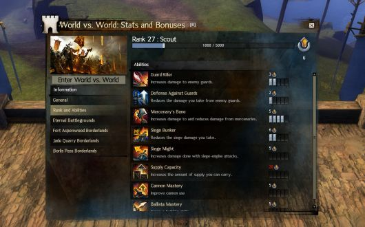 Guild Wars 2 dev blogs explain the bounty hunt system and WvW improvements