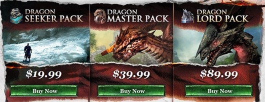 Limitedtime VIP packs for Dragon's Prophet include beta access, houses