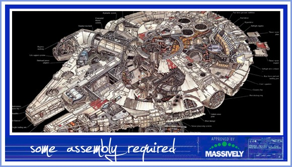 Some Assembly Required - Millennium Falcon cutaway drawing