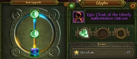 Allods Online upgrades gear with glyphs