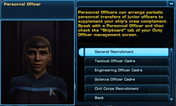 STO Academy Personnel Officer