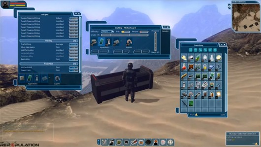 The Repopulation crafting UI