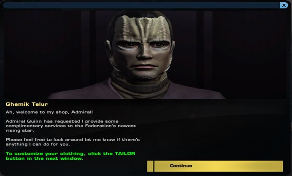 STO Tailor new UI
