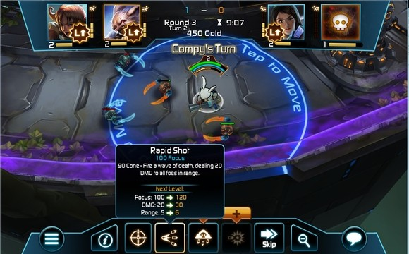 Handson with Arena of Heroes' turnbased gameplay