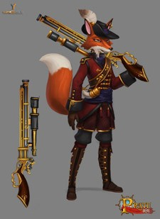 Pirate101 - Fox with a gun