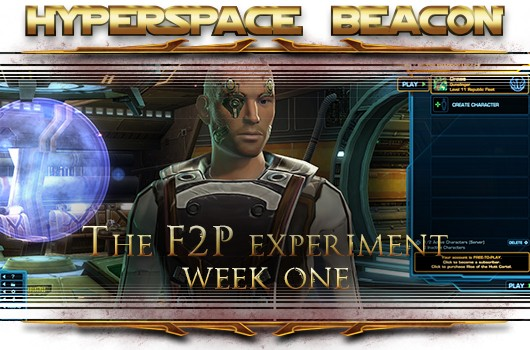Hyperspace Beacon The SWTOR freetoplay experiment, week one