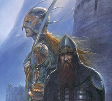 Legolas and Gimli at Helm's Deep by John Howe