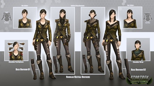 Star Trek Online showcases Romulan uniforms