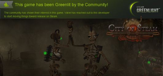 City of Steam has been greenlit for Steam