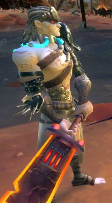Without speculative context, how could we say that this guy is probably one of the last two playable races?  Note the bicep.