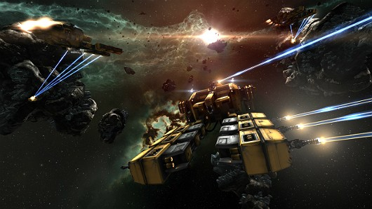 EVE Online - Mining barges