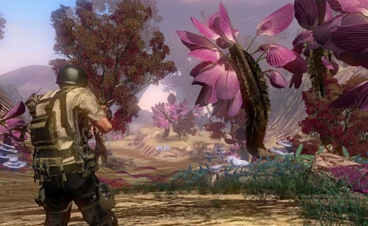 The Repopulation has pretty pink plants
