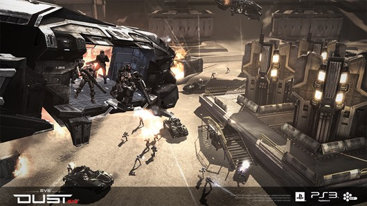 DUST 514 - Dropship and merc troops
