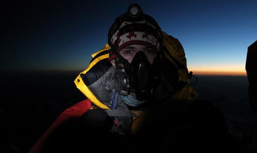 Dean Hall on top of Mt. Everest