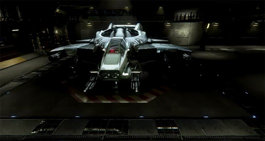 Star Citizen - Hangar module with Hornet