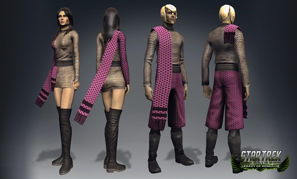 STO Romulan TOS uniforms