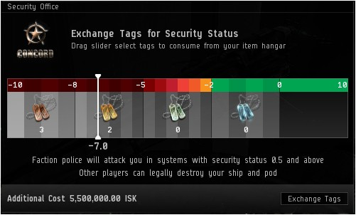 EVE Online Security Tag