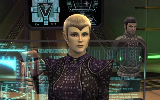Yes, the face of the Romulans is only half-Romulan.