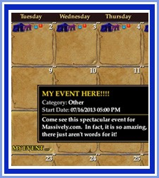In-game calendar marking an awesome event!