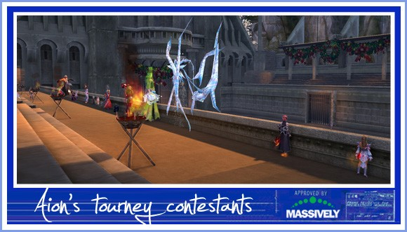 Contestants in Aion's PvP tourney
