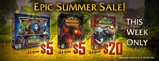 World of Warcraft unleashes the summer sale