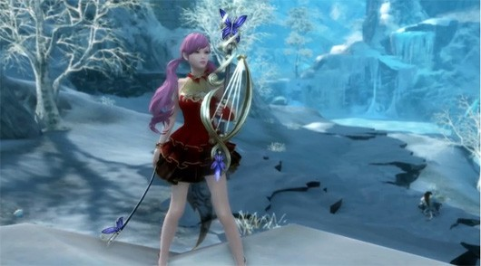 Playerdesigned weapons launch into Aion