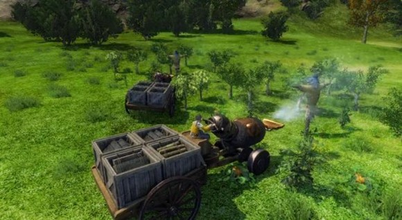 ArcheAge tractor and crops