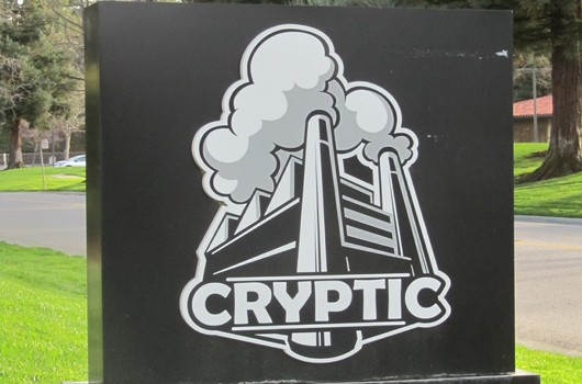 STO Cryptic headquarters sign