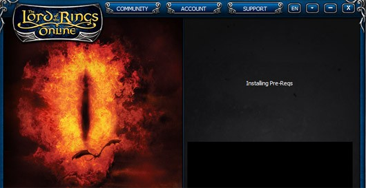 Lord of the Rings Online launcher - Installing pre-reqs